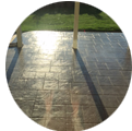 Beautiful Ashler stamped concrete